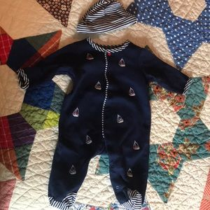 Like new sailor onesie and hat